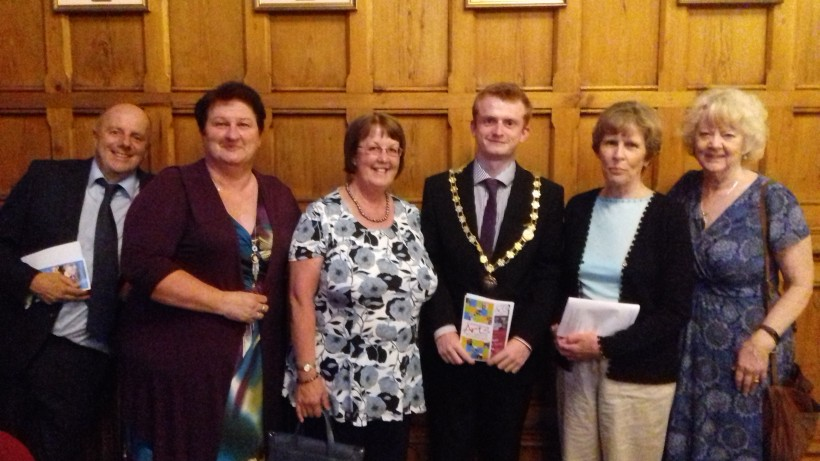 Castle Park Arts Centre Trustees with manager Kim Horton (right) and Deputy Mayor and his consort