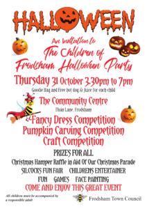 Poster for Children's Halloween Party 31 October 2019