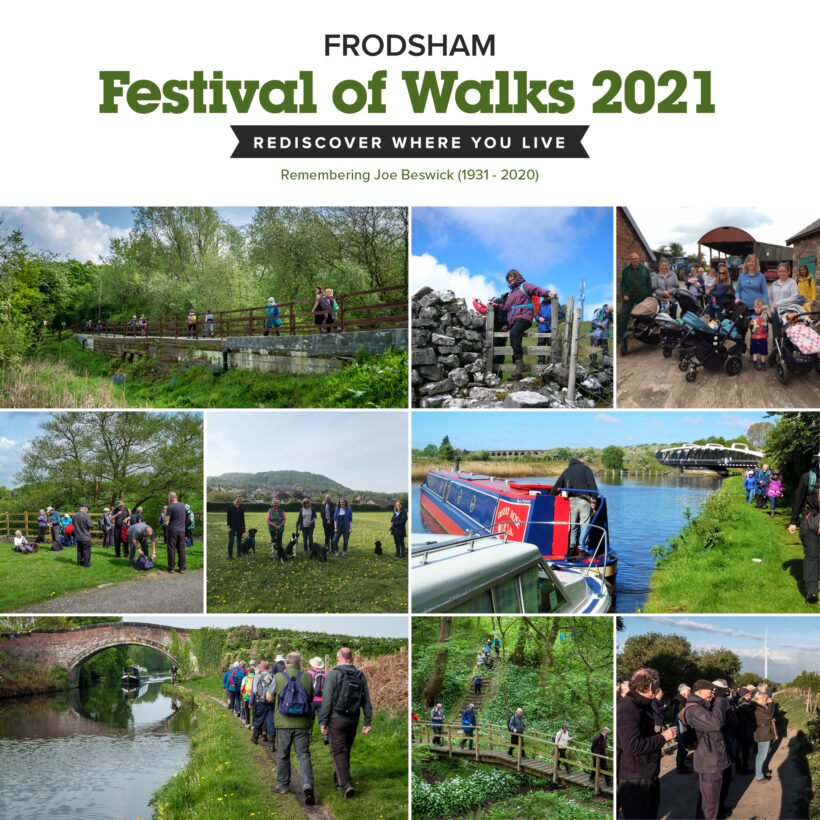 A collage of photographs from previous Festival of Walks